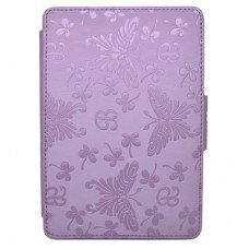 Калъф за Kindle Paperwhite с щампи на пеперуди, Лилав