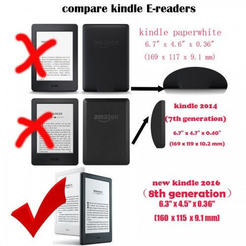 Калъф Smart за New Basic Kindle 2016, Черен