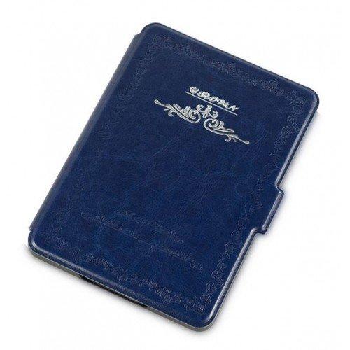 Калъф Vintage book за Kindle Touch 2014, Син