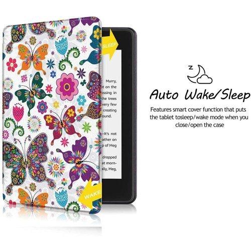 Калъф GARV Slim за Kindle Paperwhite 4 (2018), Butterflies