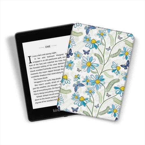 Калъф GARV Slim за Kindle 2019, Blue Flowers