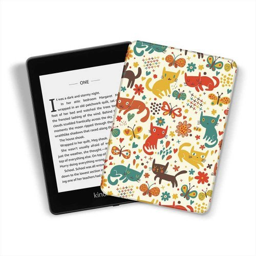 Калъф GARV Slim за Kindle 2019, Playing Cats