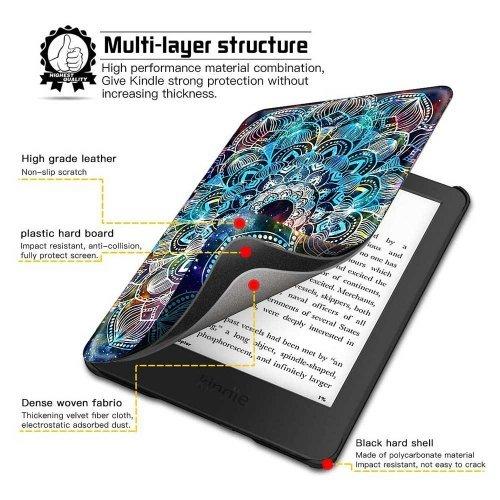 Калъф GARV Slim за Kindle Paperwhite 4 (2018), Mandala Galaxy