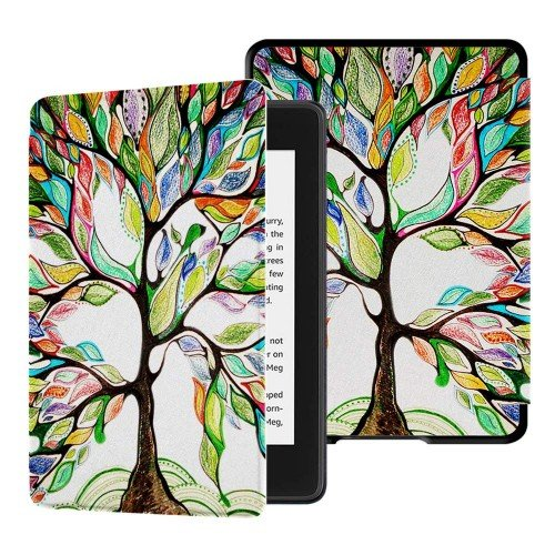 Калъф GARV Slim за Kindle 2019, Colorful Tree