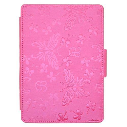 Калъф за Kindle Paperwhite с щампи на пеперуди, Розов