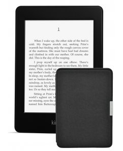 Amazon Kindle Paperwhite 2, Черен + Калъф Premium