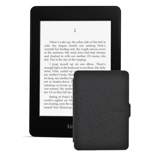Amazon Kindle Paperwhite 2, Черен + Калъф Smart