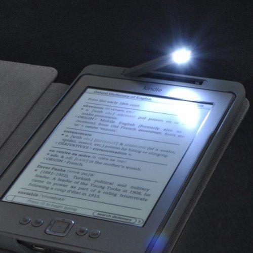 Калъф за Kindle 4/5 с вградена лампичка, Червен