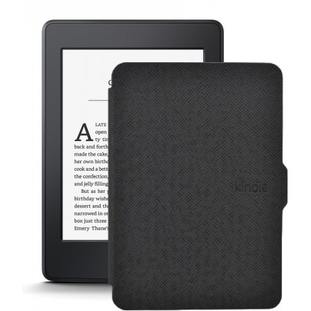 Kindle Paperwhite 3, Wi-Fi, 300 ppi, Черен + Калъф Smart