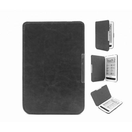 Калъф Premium за Pocketbook 614/ 614-2/ 615/ 616/ 624/ 625/ 626/ 640/ 641, Черен