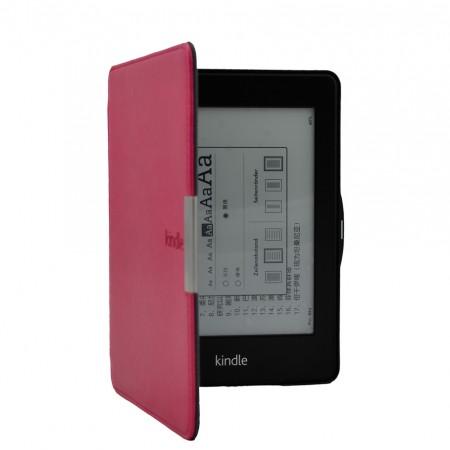 Калъф за Kindle Paperwhite с магнитно закопчаване - розов