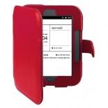 Калъф за Nook Simple Touch/Glowlight с магнитно закопчаване - червен